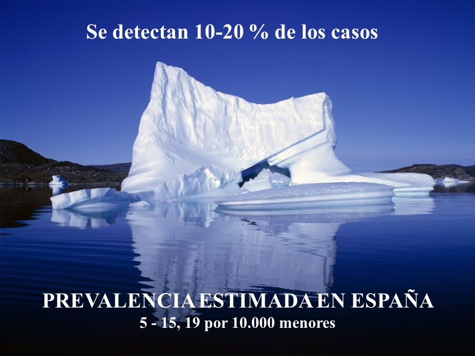 PREVALENCIA ESTIMADA EN ESPAÑA 5 - 15, 19 por 10.000 menores