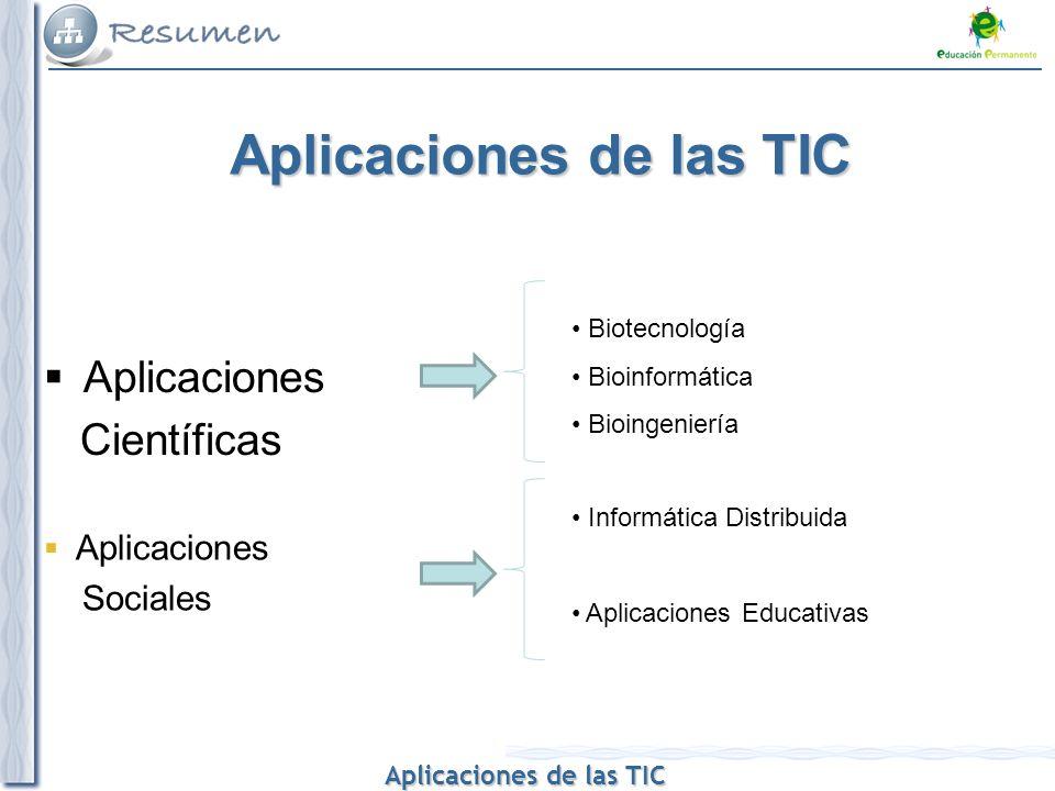 Aplicaciones de las TIC