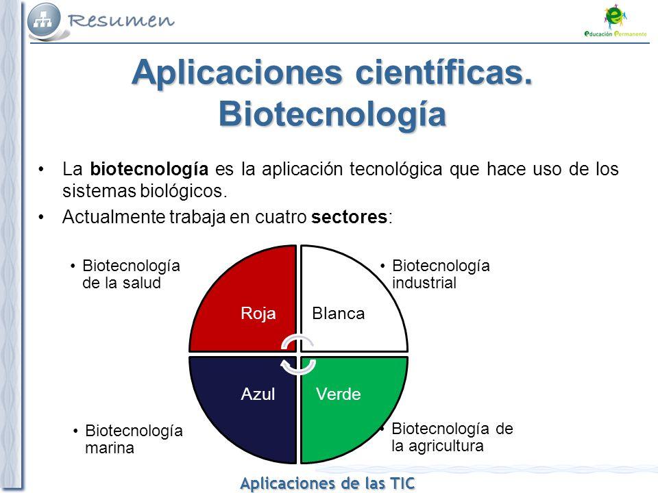 Aplicaciones científicas. Biotecnología