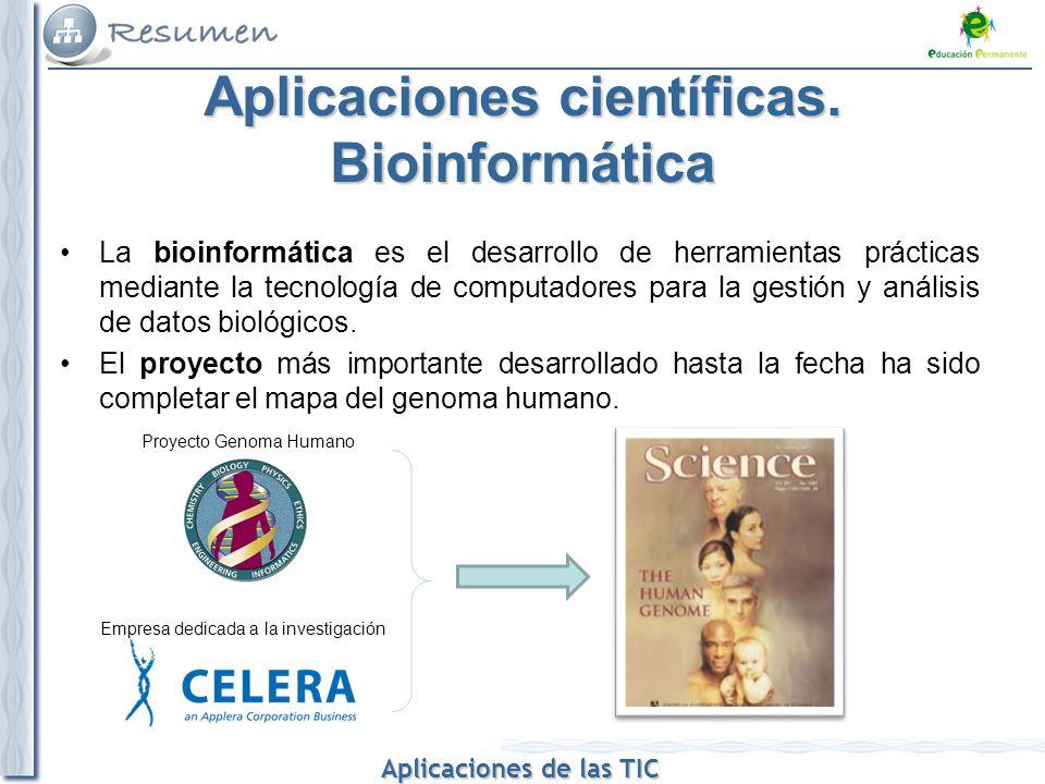 Aplicaciones científicas. Bioinformática