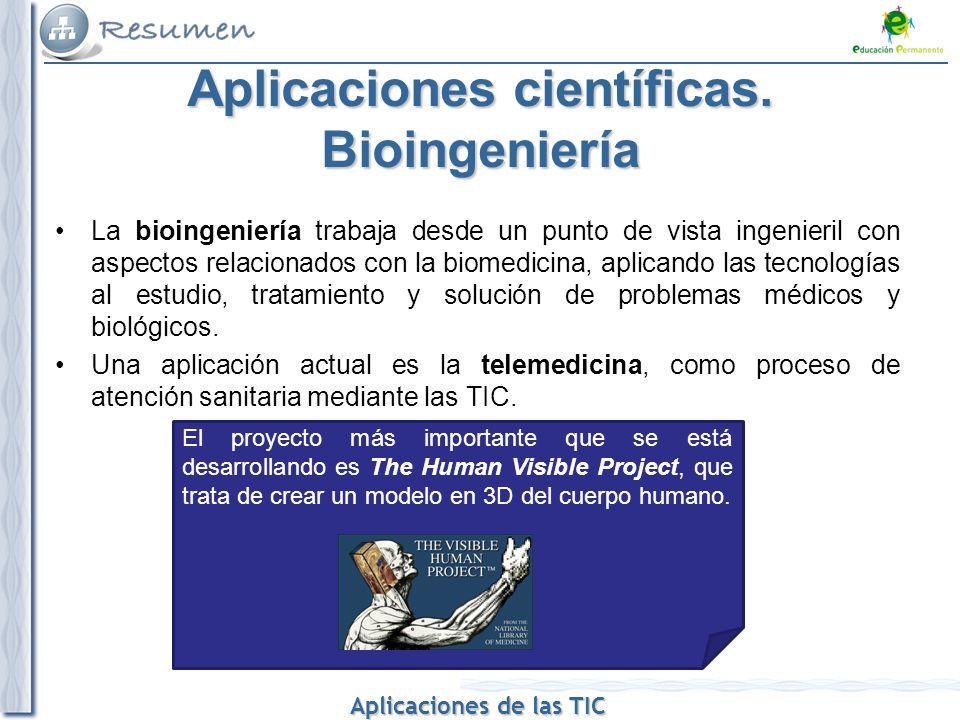 Aplicaciones científicas. Bioingeniería