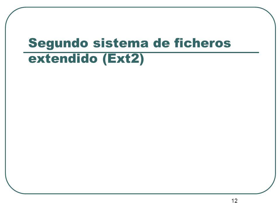 Segundo sistema de ficheros extendido (Ext2)