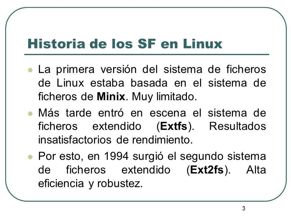 Historia de los SF en Linux