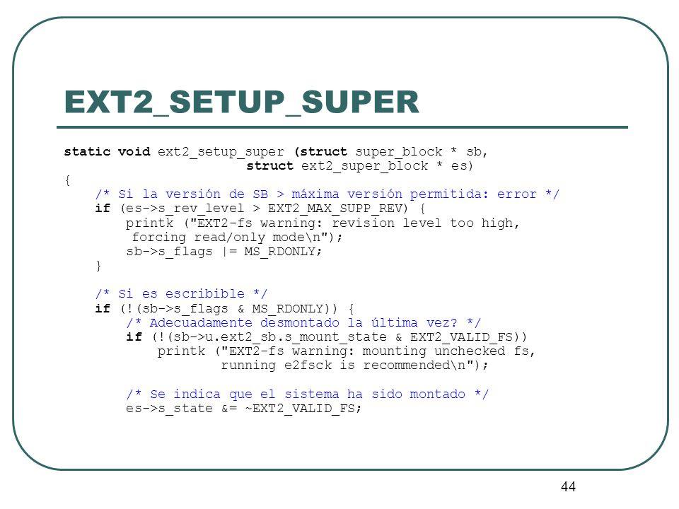 EXT2_SETUP_SUPERstatic void ext2_setup_super (struct super_block * sb, struct ext2_super_block * es)