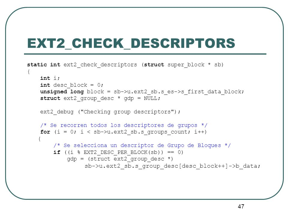 EXT2_CHECK_DESCRIPTORS