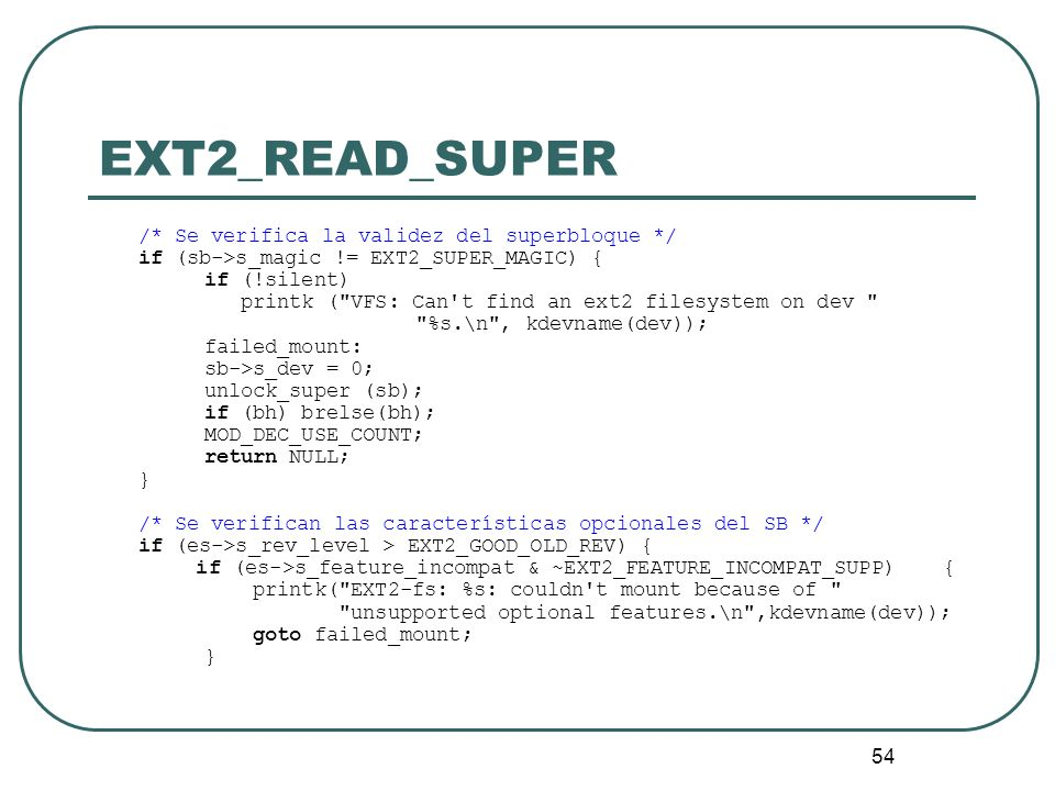 EXT2_READ_SUPER if (sb->s_magic != EXT2_SUPER_MAGIC) { if (!silent)