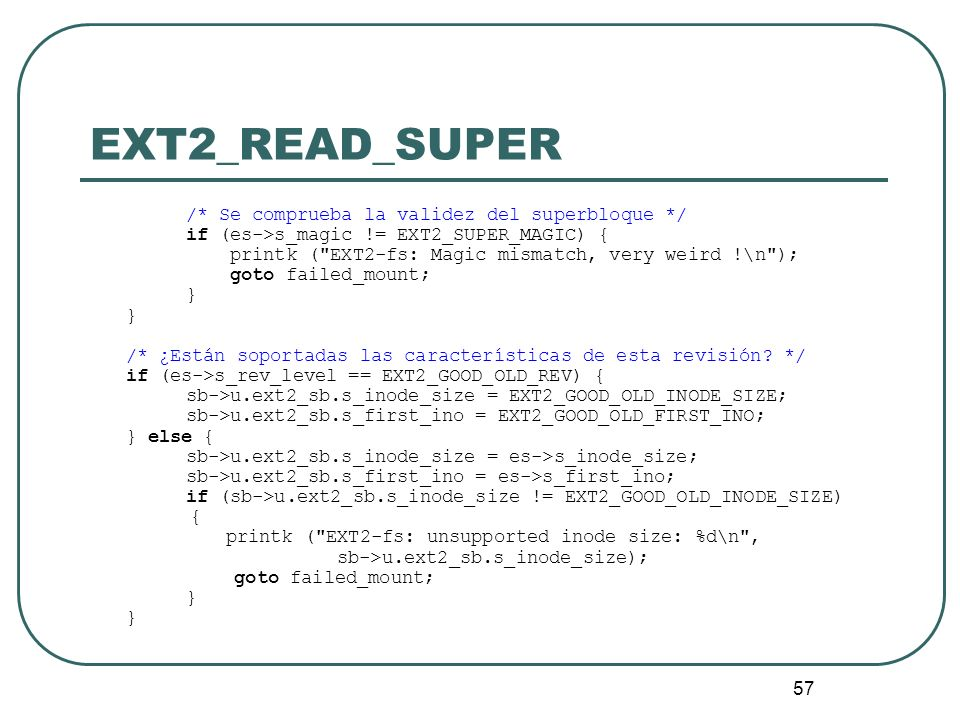 EXT2_READ_SUPER if (es->s_magic != EXT2_SUPER_MAGIC) {