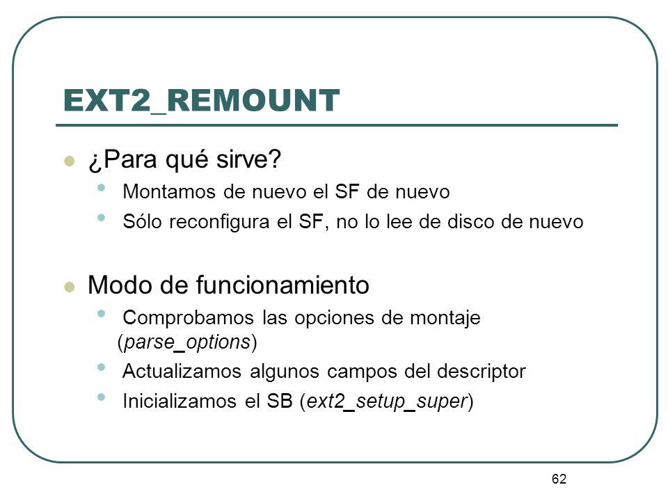EXT2_REMOUNT ¿Para qué sirve Modo de funcionamiento