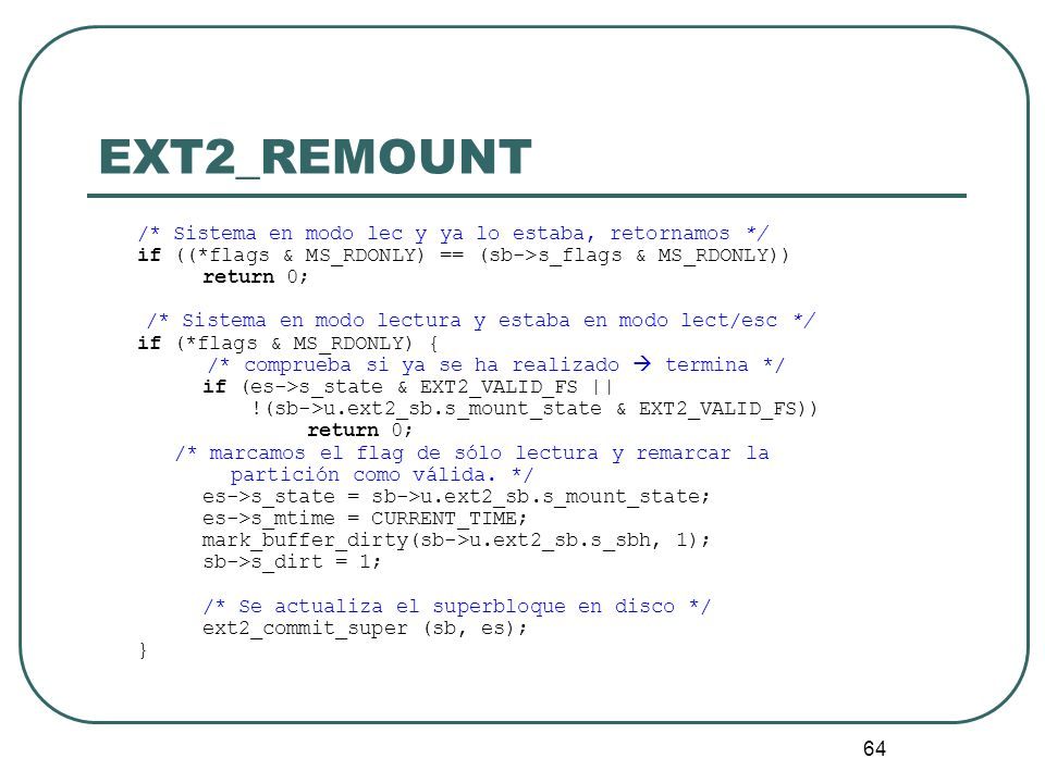 EXT2_REMOUNT if ((*flags & MS_RDONLY) == (sb->s_flags & MS_RDONLY))
