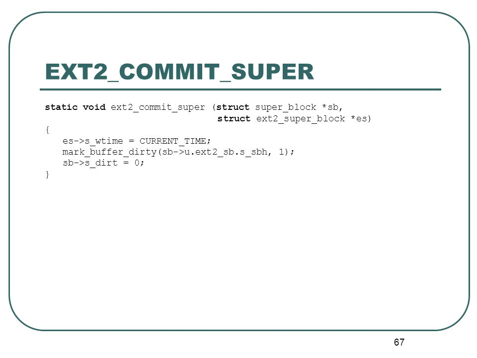EXT2_COMMIT_SUPER static void ext2_commit_super (struct super_block *sb, struct ext2_super_block *es)