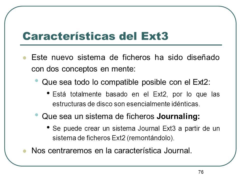 Características del Ext3