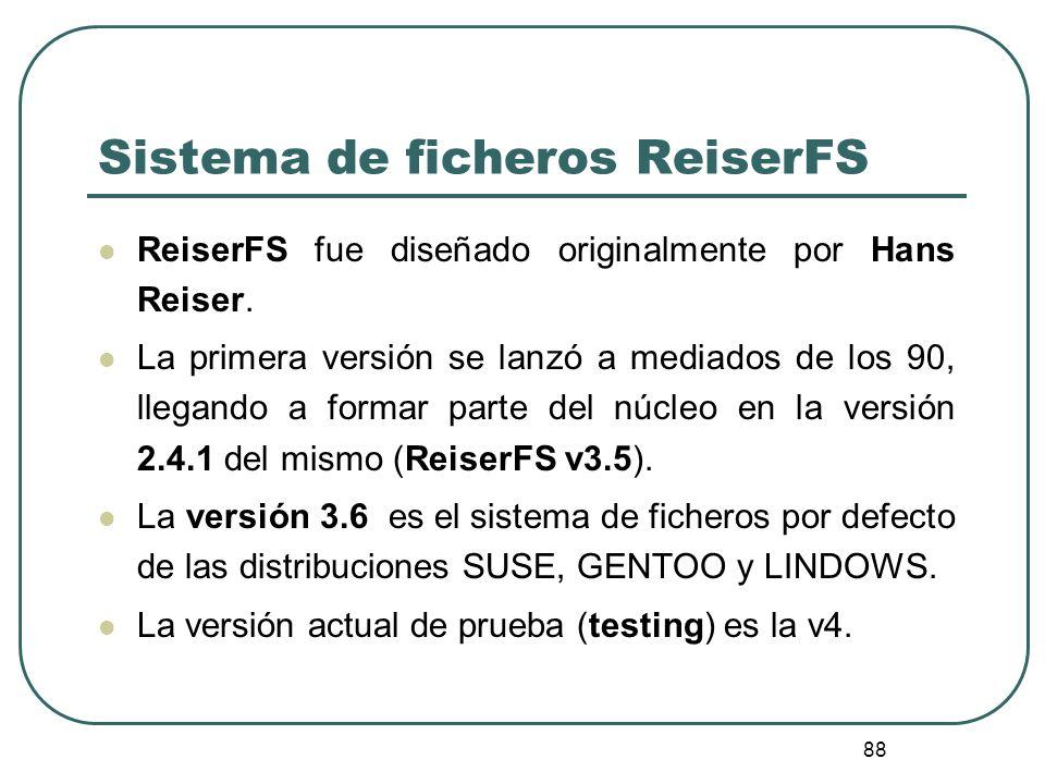 Sistema de ficheros ReiserFS