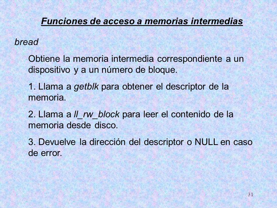 Funciones de acceso a memorias intermedias