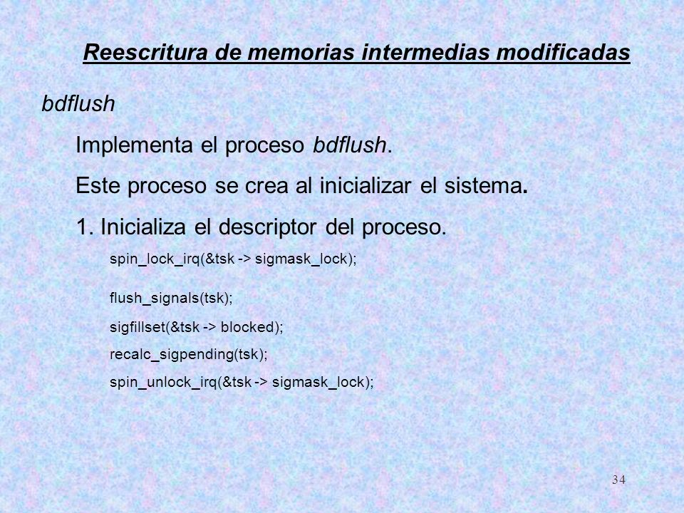 Reescritura de memorias intermedias modificadas