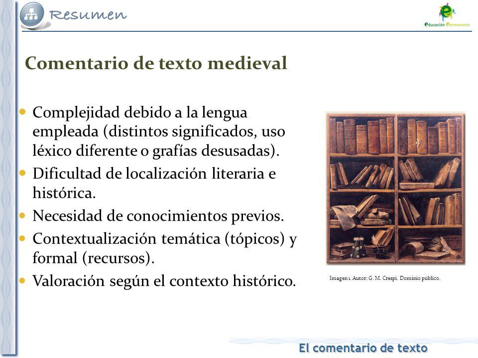 Comentario de texto medieval