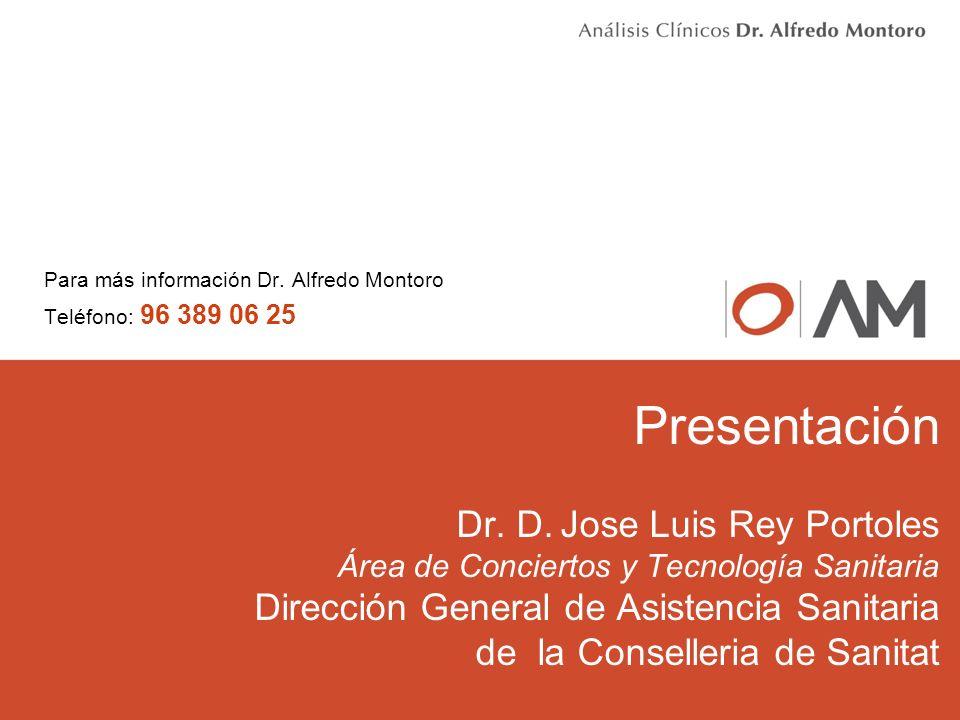 Para más información Dr. Alfredo Montoro Teléfono: 96 389 06 25