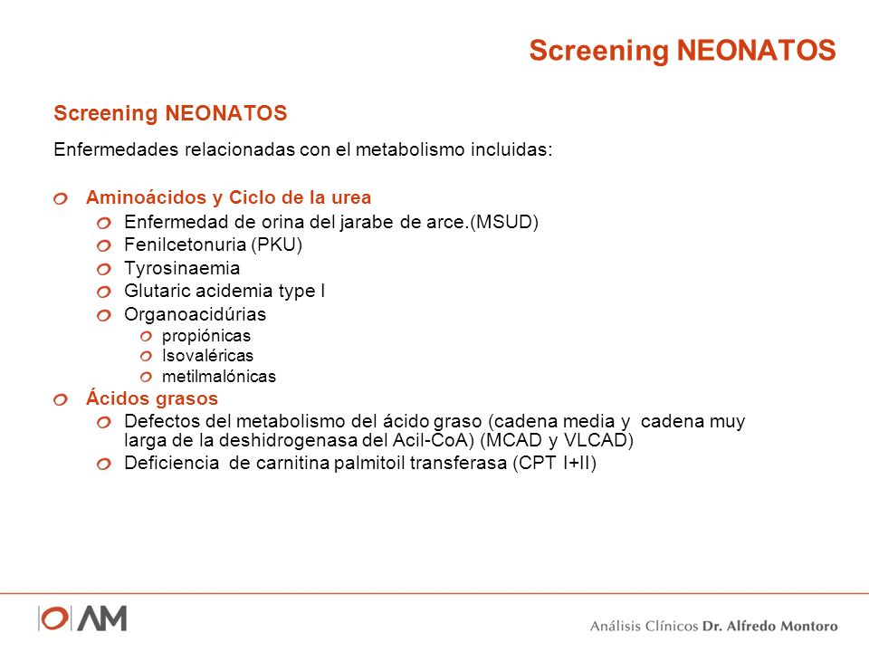 Screening NEONATOS Screening NEONATOS