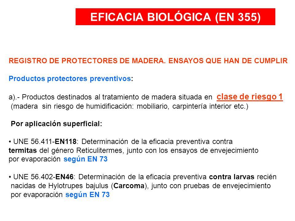 EFICACIA BIOLÓGICA (EN 355)