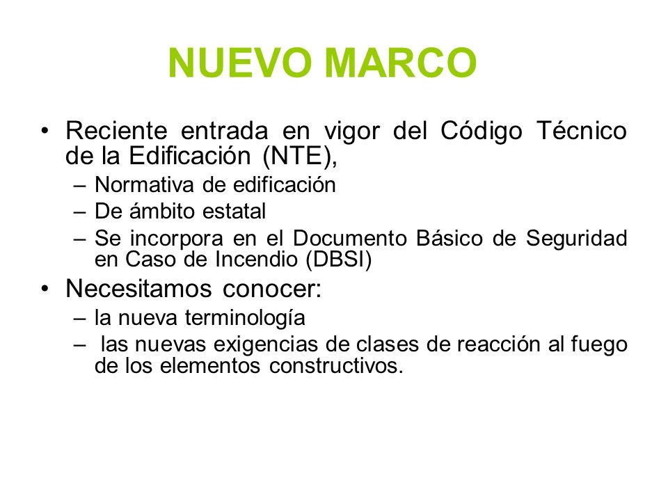 NUEVO MARCO Reciente entrada en vigor del Código Técnico de la Edificación (NTE), Normativa de edificación.