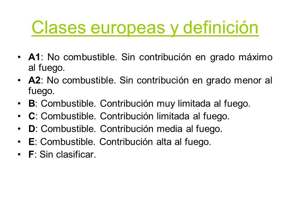 Clases europeas y definición