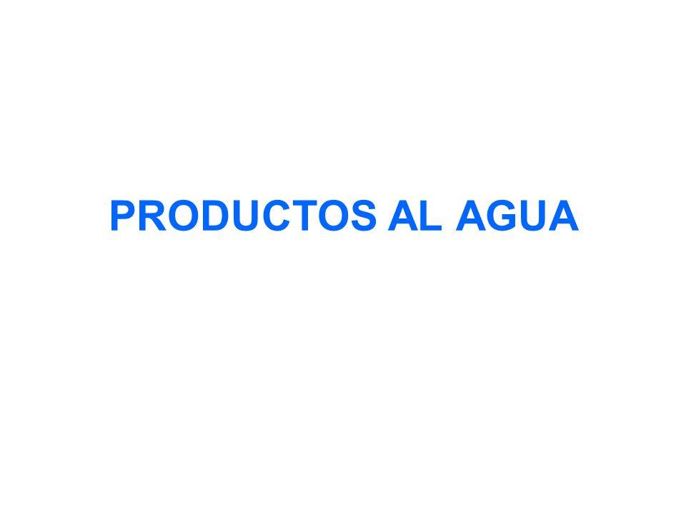 PRODUCTOS AL AGUA