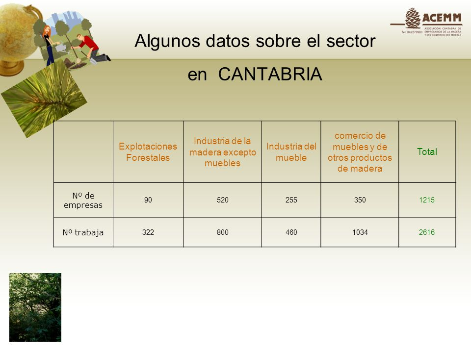 Algunos datos sobre el sector en CANTABRIA
