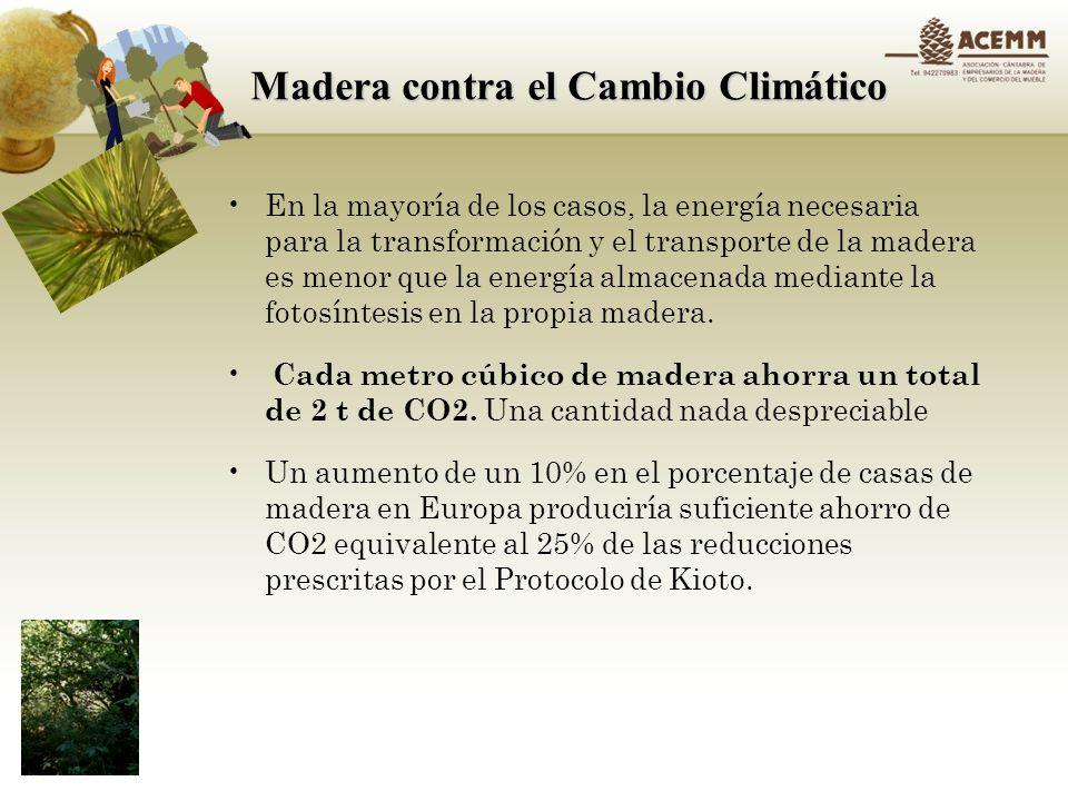 Madera contra el Cambio Climático