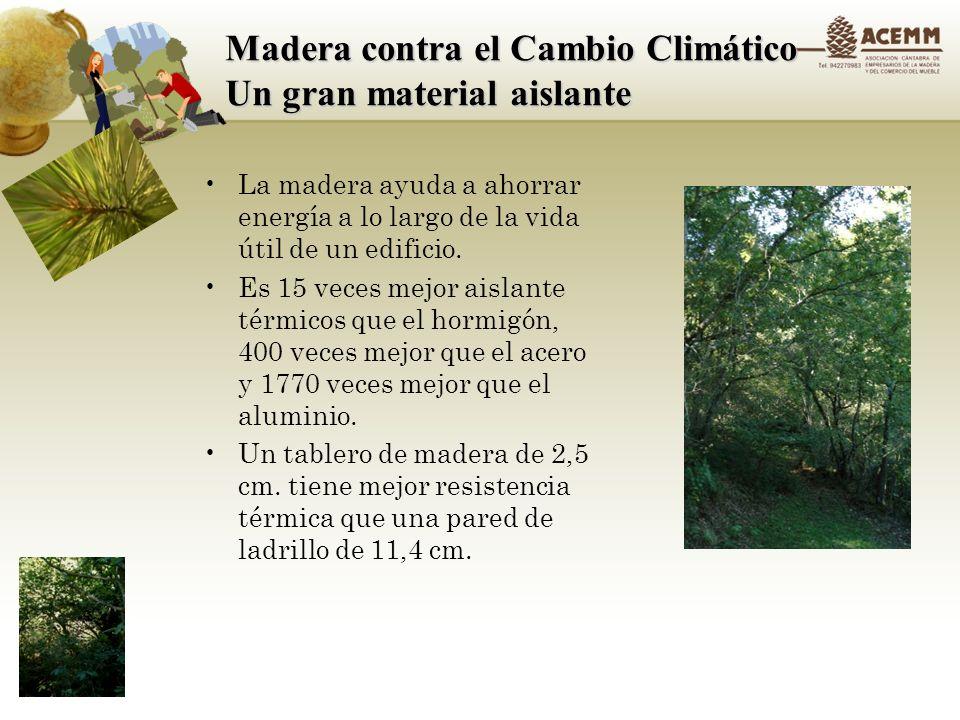 Madera contra el Cambio Climático Un gran material aislante
