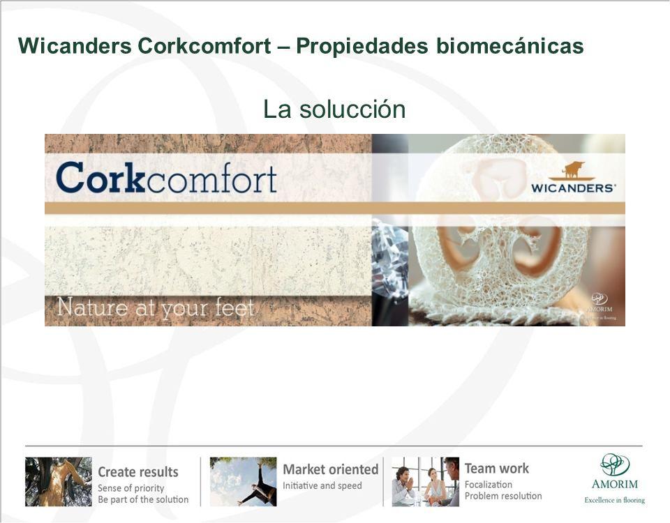 Wicanders Corkcomfort – Propiedades biomecánicas