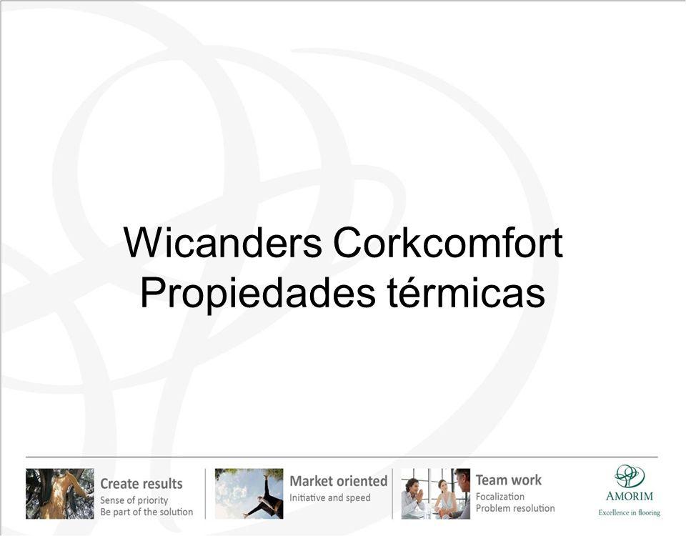 Wicanders Corkcomfort Propiedades térmicas