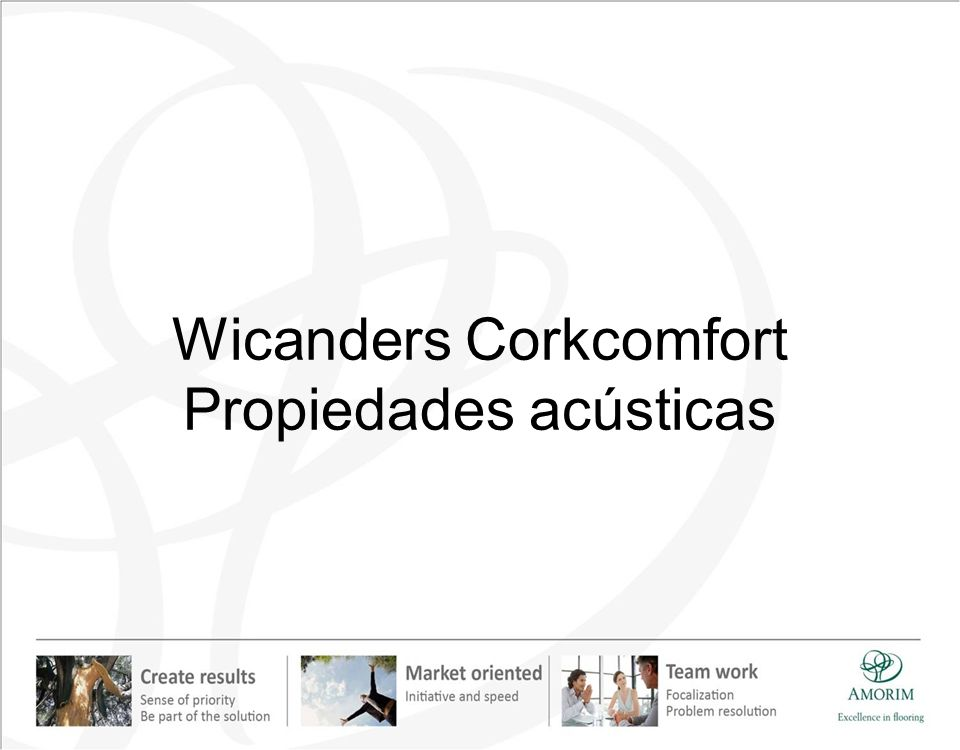 Wicanders Corkcomfort Propiedades acústicas