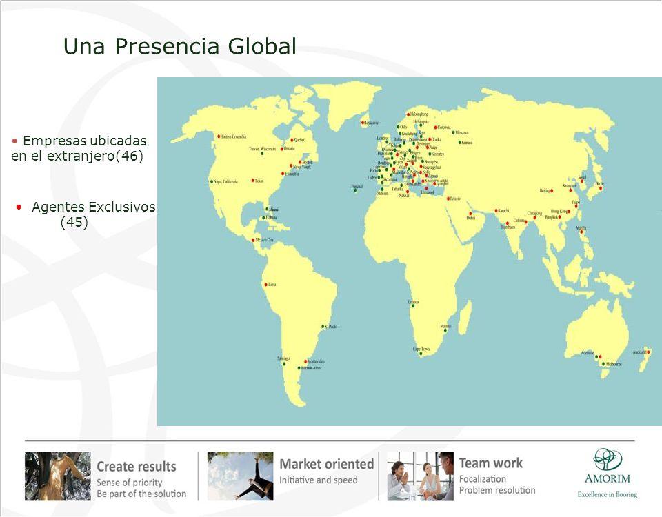Una Presencia Global • Empresas ubicadas en el extranjero(46)