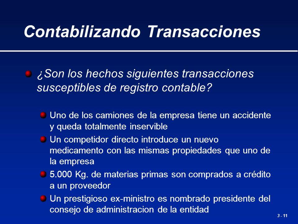 Contabilizando Transacciones