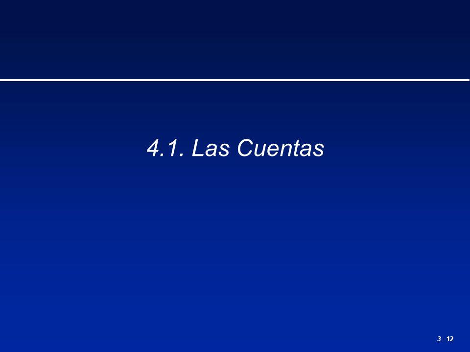4.1. Las Cuentas