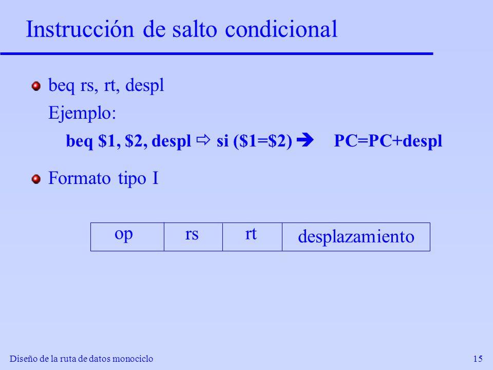 Instrucción de salto condicional