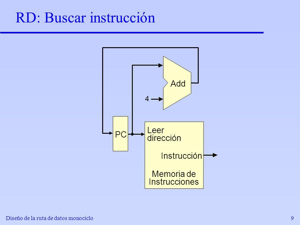 RD: Buscar instrucción