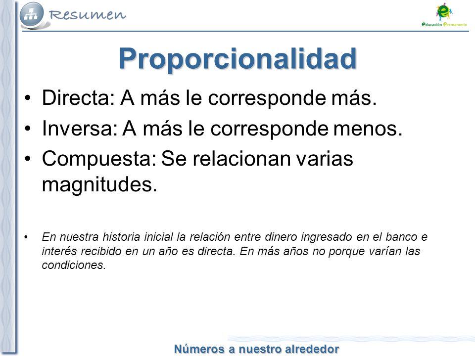 Proporcionalidad Directa: A más le corresponde más.