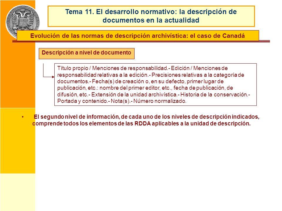 Evolución de las normas de descripción archivística: el caso de Canadá
