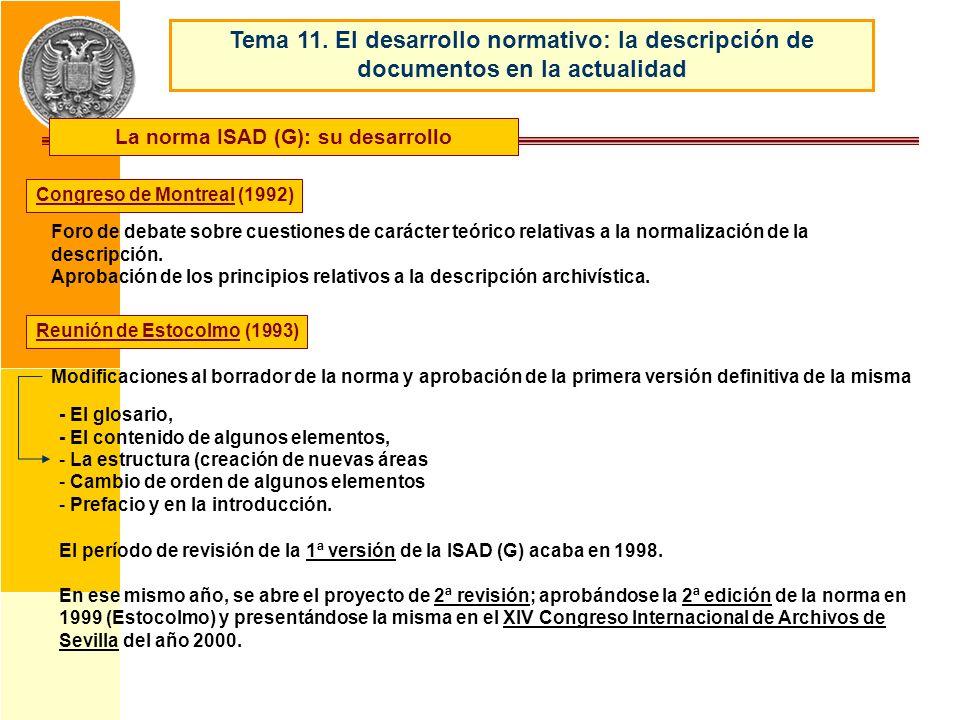 La norma ISAD (G): su desarrollo