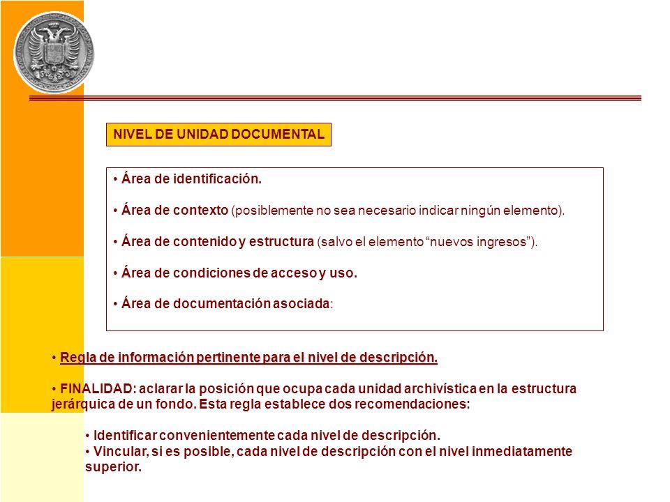 NIVEL DE UNIDAD DOCUMENTAL