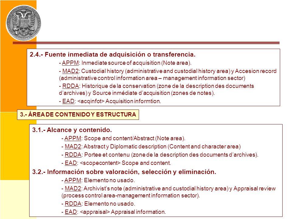 3.- ÁREA DE CONTENIDO Y ESTRUCTURA