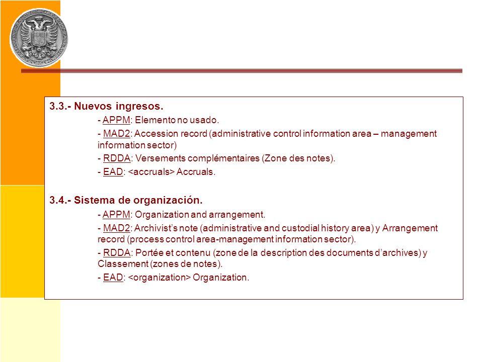 3.4.- Sistema de organización.