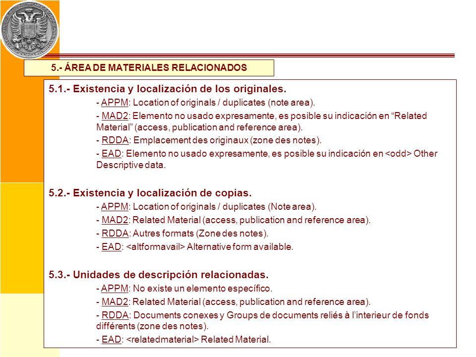 5.- ÁREA DE MATERIALES RELACIONADOS