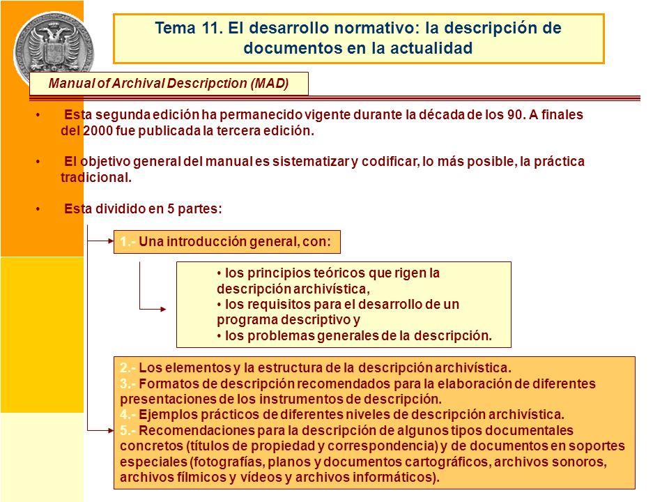 Manual of Archival Descripction (MAD)