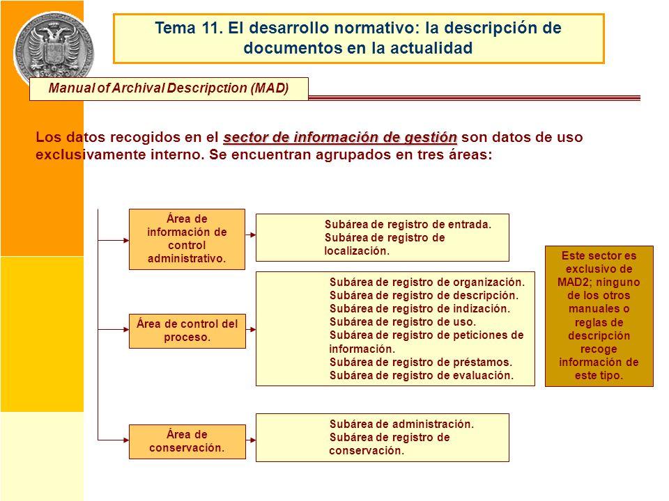 Tema 11. El desarrollo normativo: la descripción de documentos en la actualidad