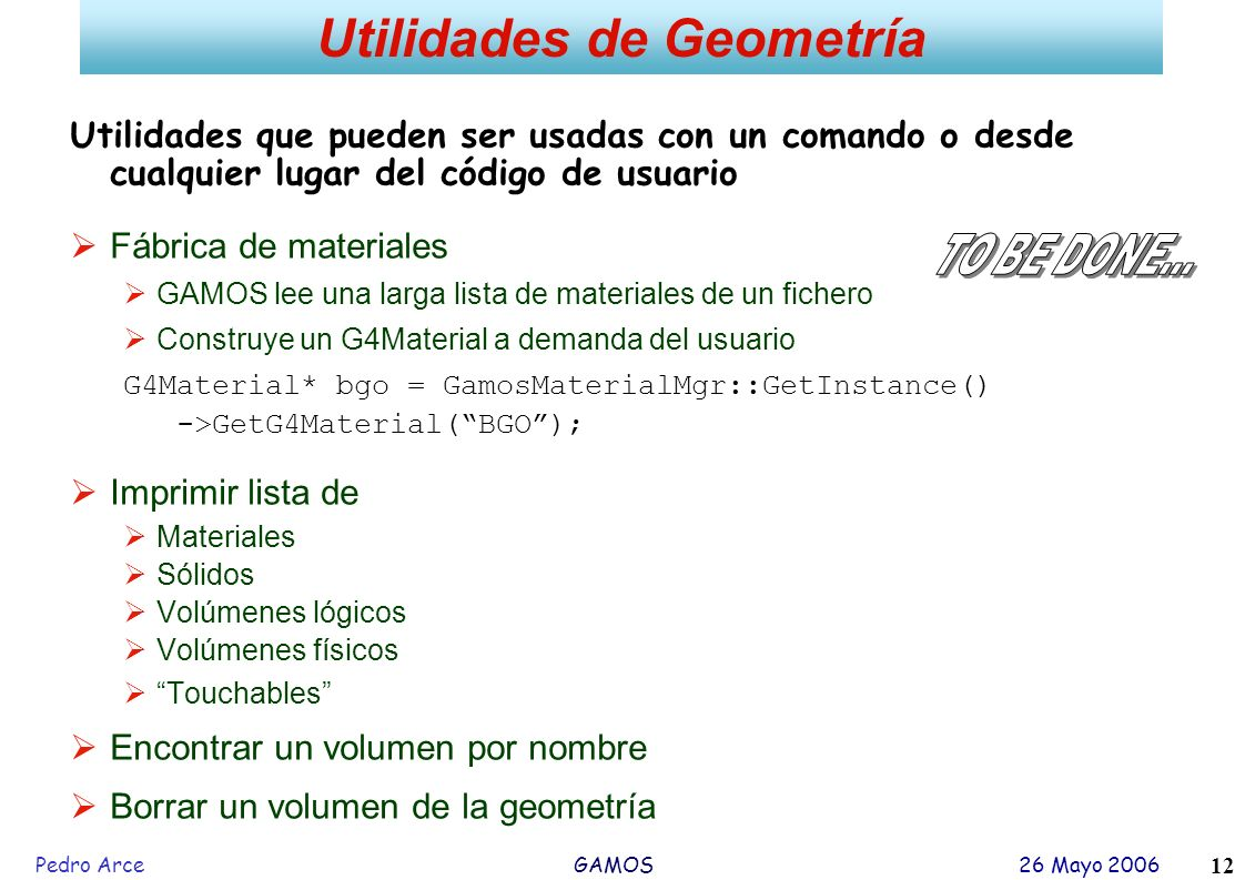 Utilidades de Geometría