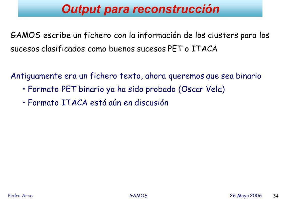 Output para reconstrucción