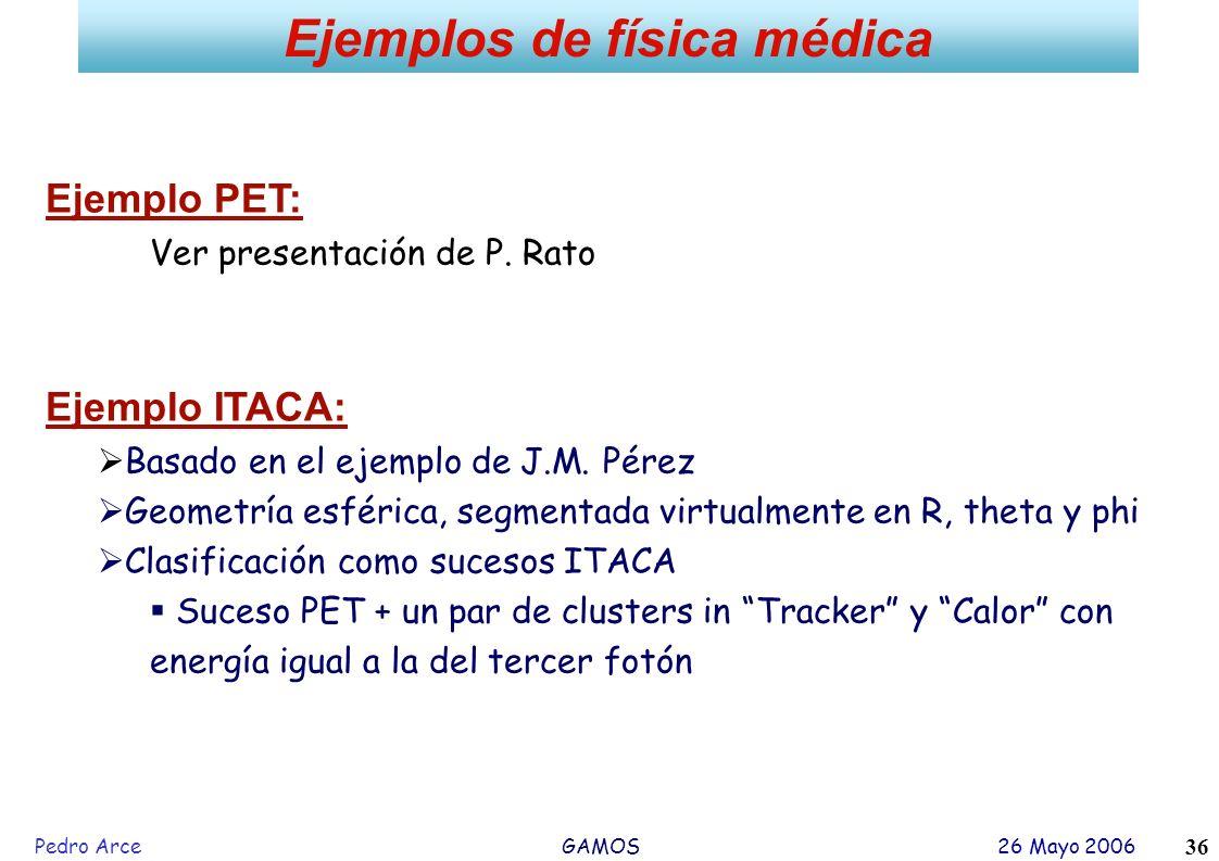 Ejemplos de física médica