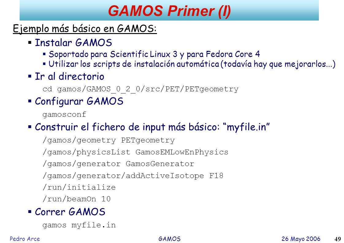 GAMOS Primer (I) Ejemplo más básico en GAMOS: Instalar GAMOS