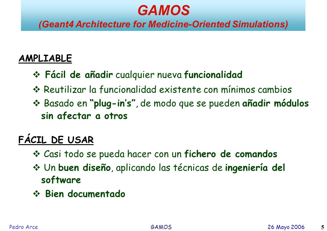 (Geant4 Architecture for Medicine-Oriented Simulations)